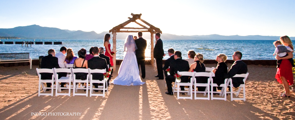 Lake Tahoe Wedding Venue - Toes in the Sand - Lake Front WeddingLake ...