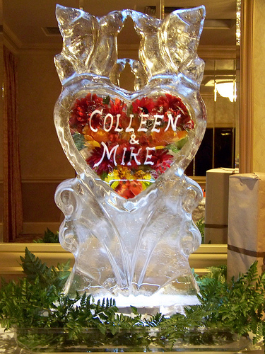 how about adding some creativity to the party weve been seeing a lot of interest in customized ice sculpture at lake tahoe wedding receptions