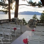 decorated chairs lake tahoe wedding