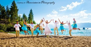 Beach Front wedding in lake Tahoe