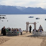 Wedding venue with a view of Lake Tahoe